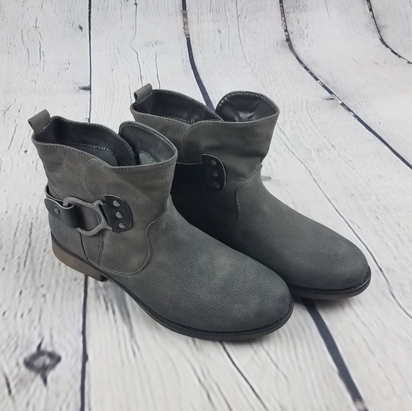 Muk Luks Booties with Buckle Detail